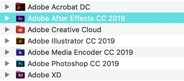 Find out the version name of AE by navigating to the folder where it's installed.